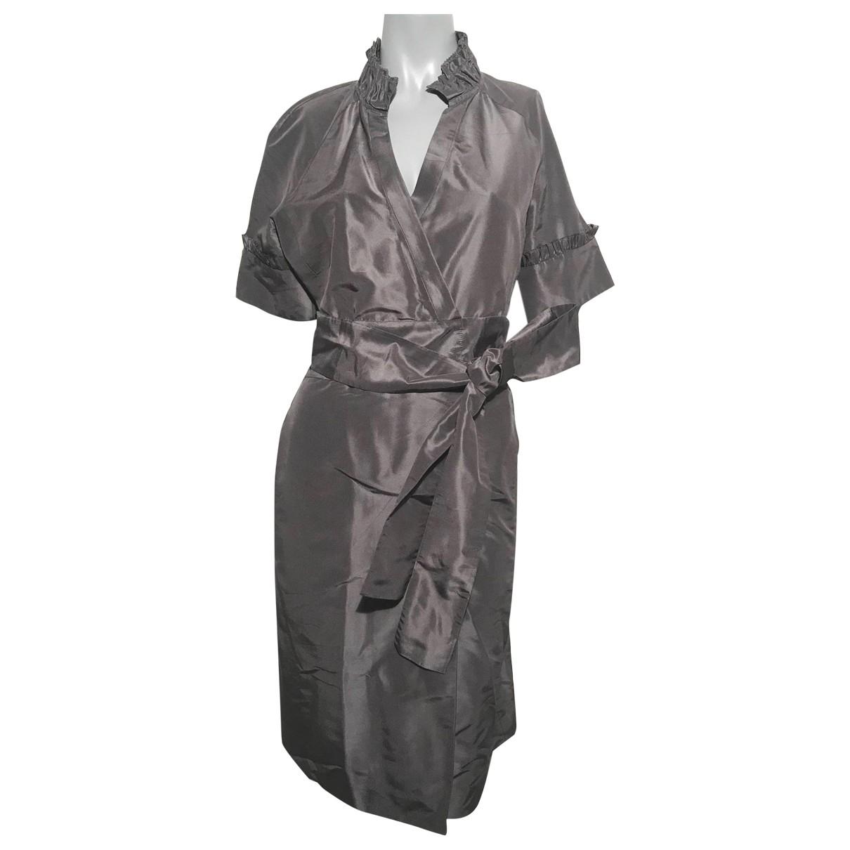 Diane Von Furstenberg - Robe   pour femme en soie - gris