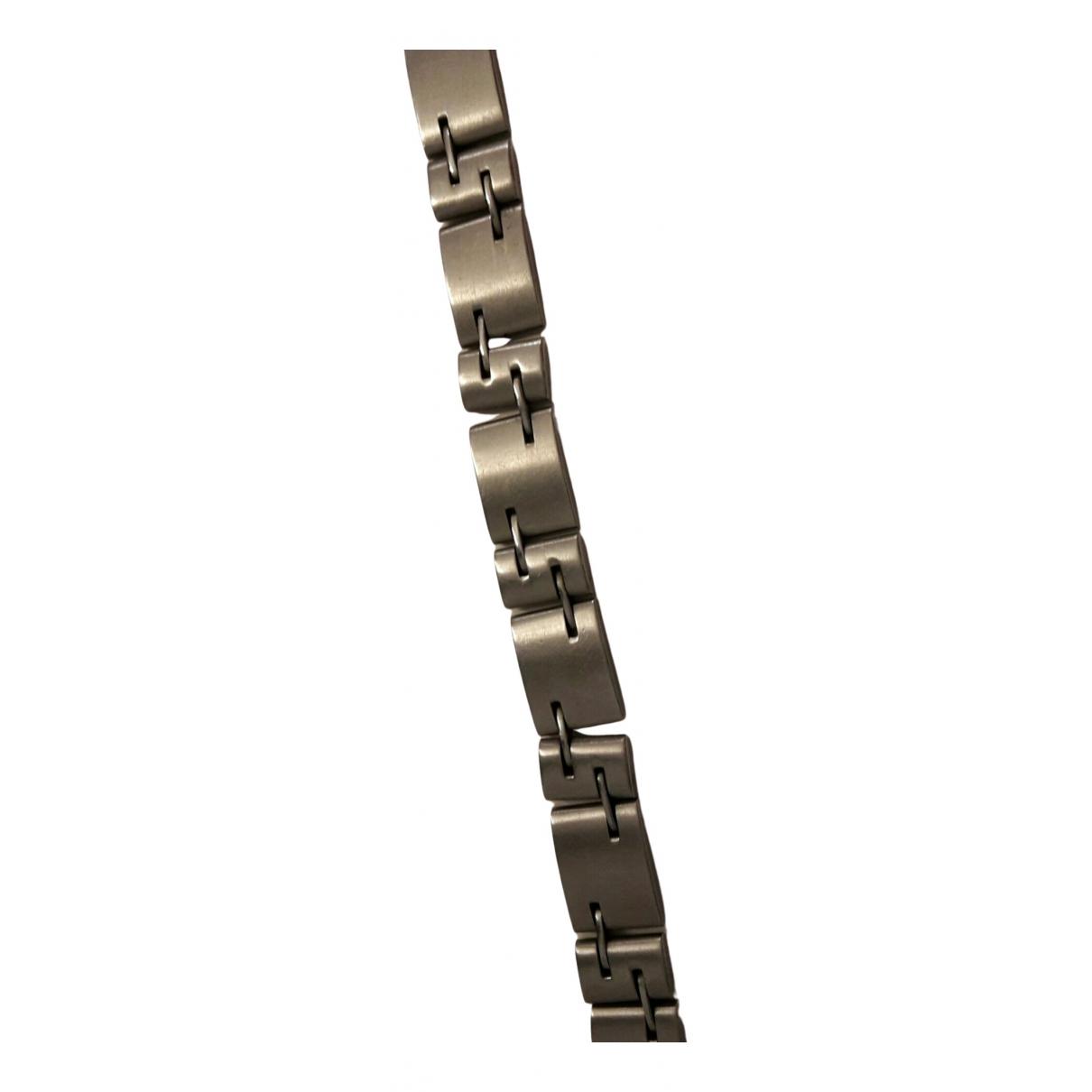 - Bracelet Gourmette pour femme en acier - argente