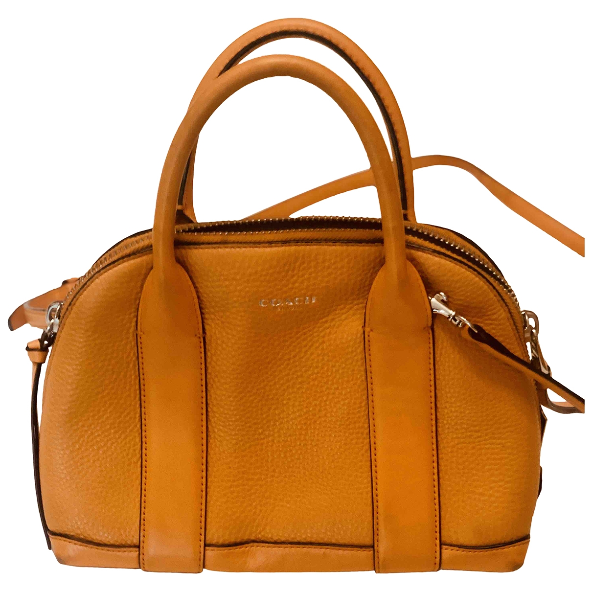 Coach \N Orange Leather handbag for Women \N
