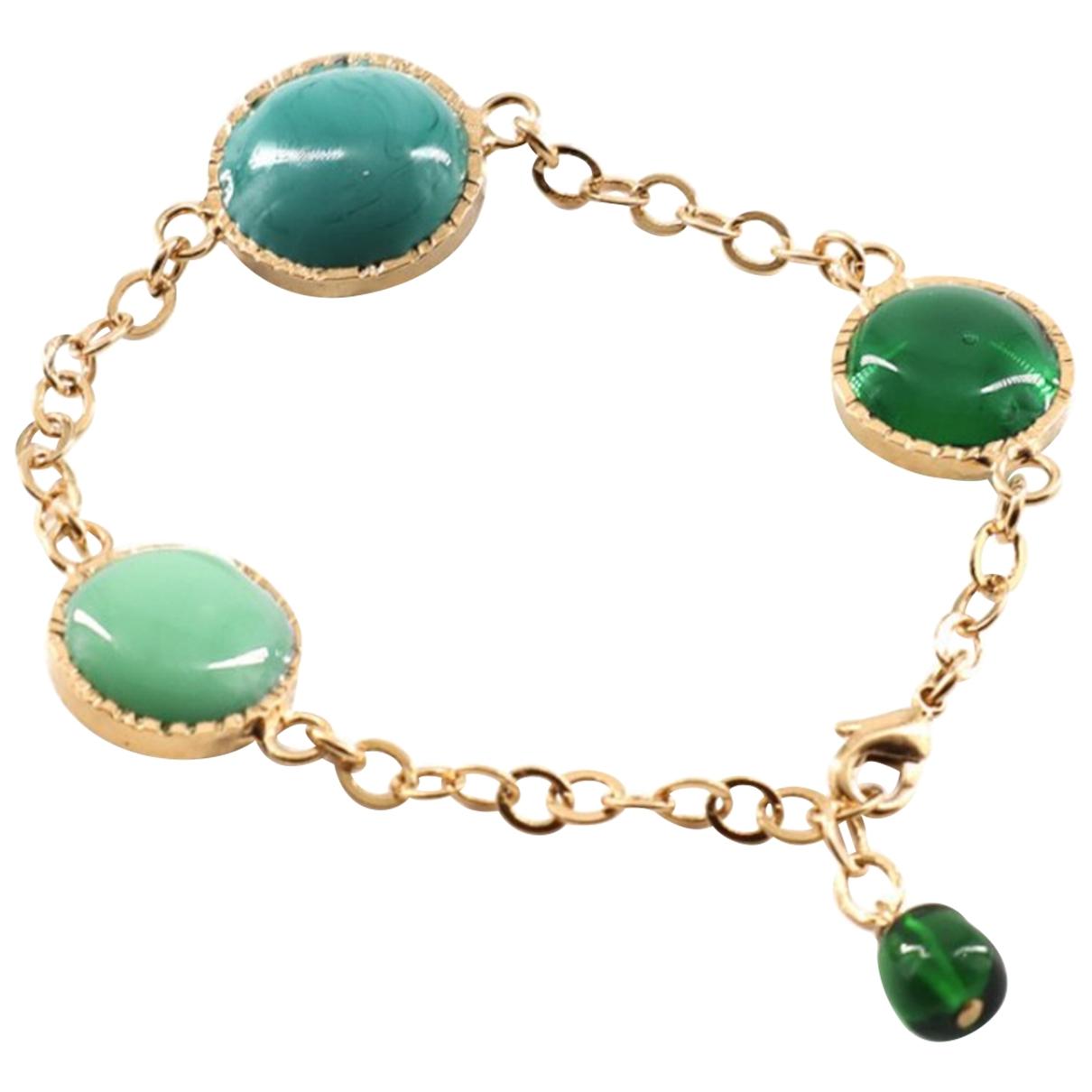 Marguerite De Valois - Bracelet   pour femme en verre - dore