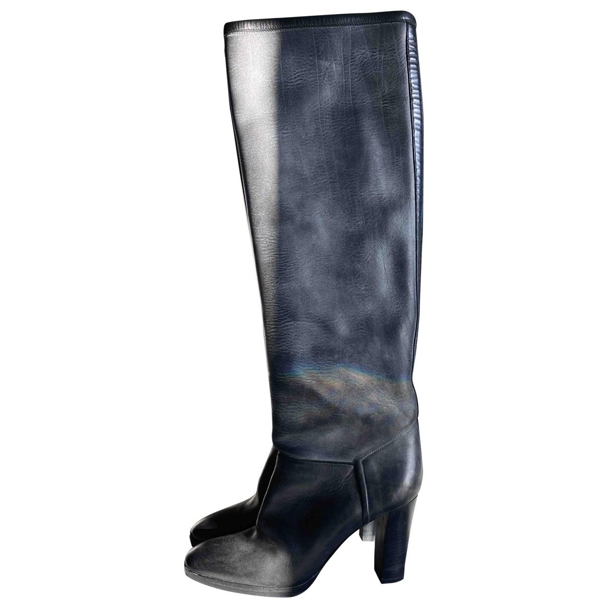Loro Piana - Bottes   pour femme en cuir - gris