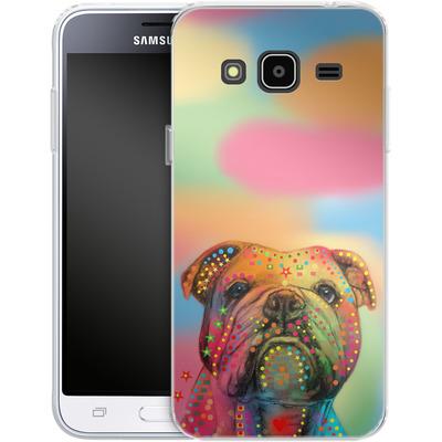 Samsung Galaxy J3 (2016) Silikon Handyhuelle - Bulldog von Mark Ashkenazi