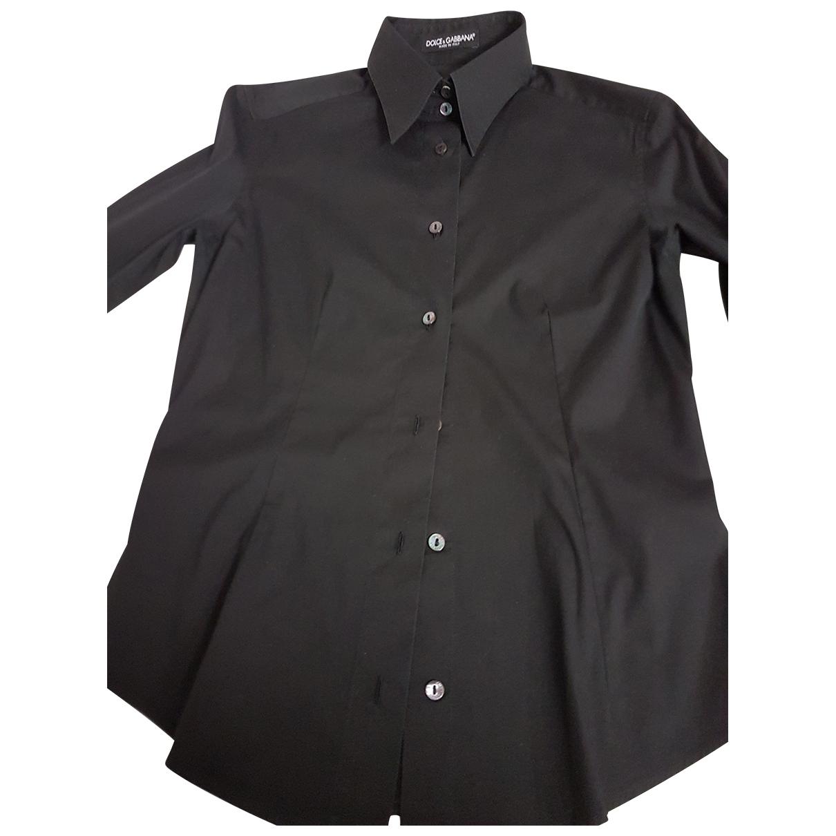 Dolce & Gabbana \N Black Cotton  top for Women 42 IT