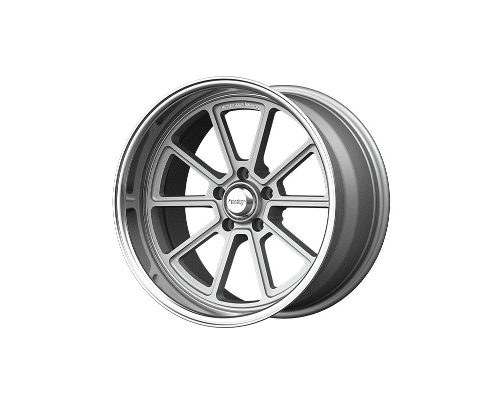American Racing VN510 Draft Wheel 18x10 5x5x120.65 +0mm Vintage Silver Diamond Cut Lip