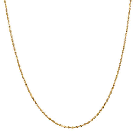 14K Gold Solid Rope Chain Necklace, One Size , No Color Family