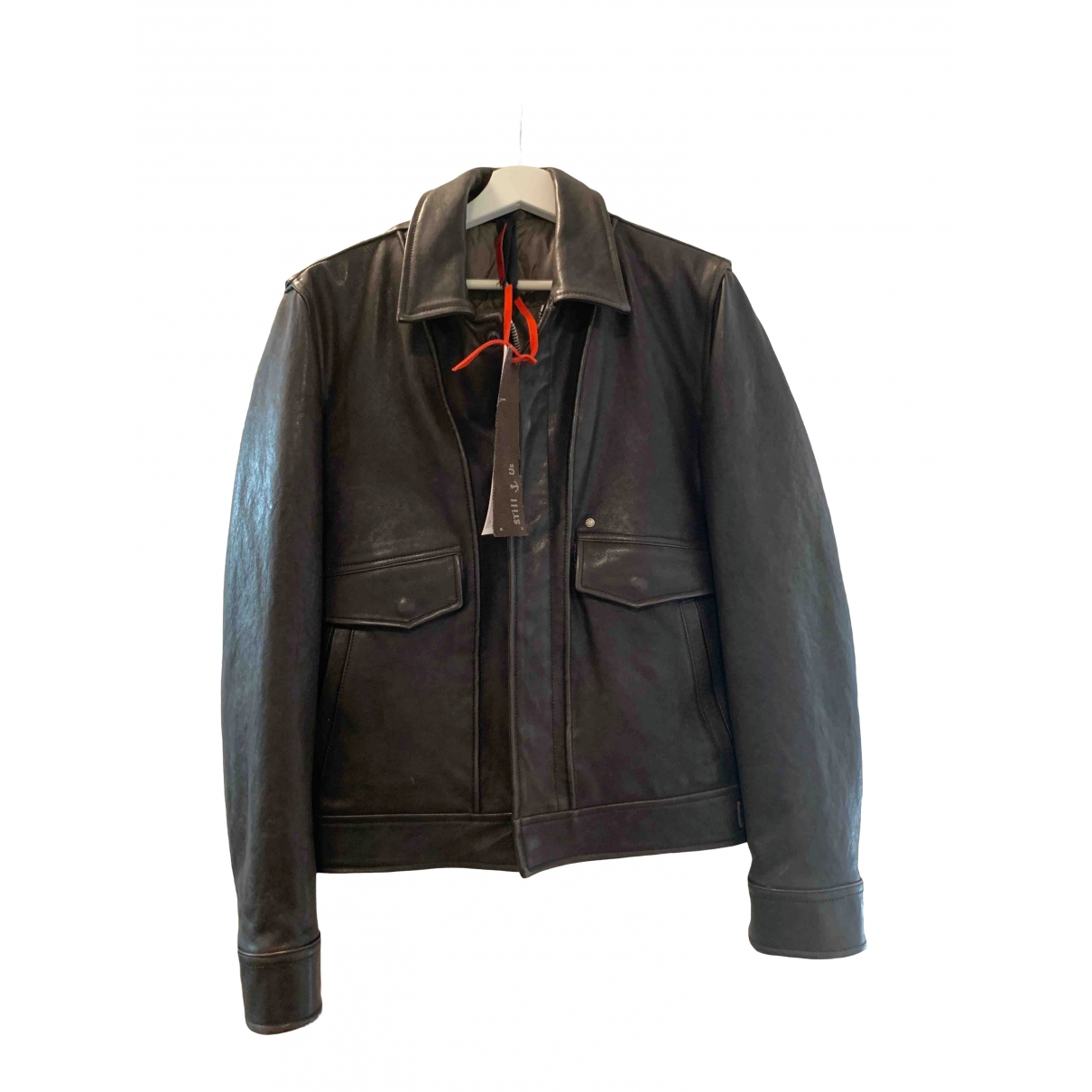 Non Signé / Unsigned \N Brown Leather jacket  for Men XXS International