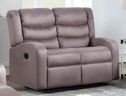 Deana 2045-L-TP 58.5 Loveseat with Manual Recliner and Fabric Upholstery in