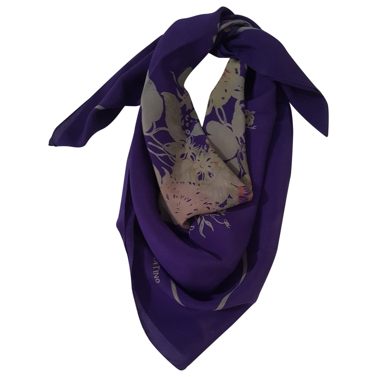 Valentino Garavani - Foulard   pour femme en soie - violet