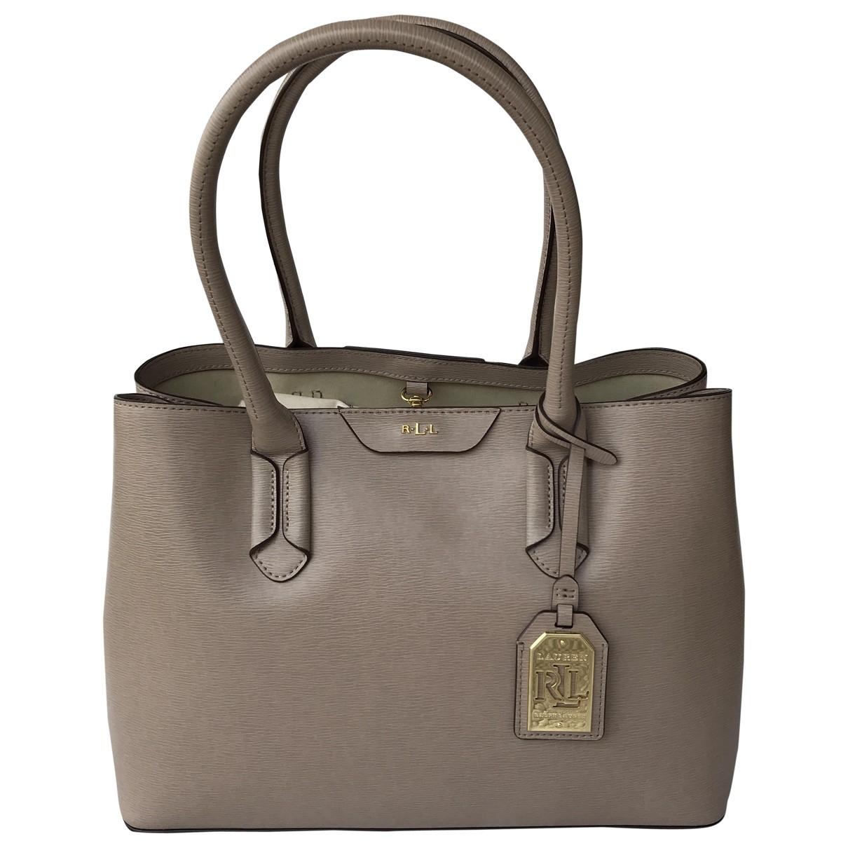 Lauren Ralph Lauren \N Handtasche in  Grau Leder