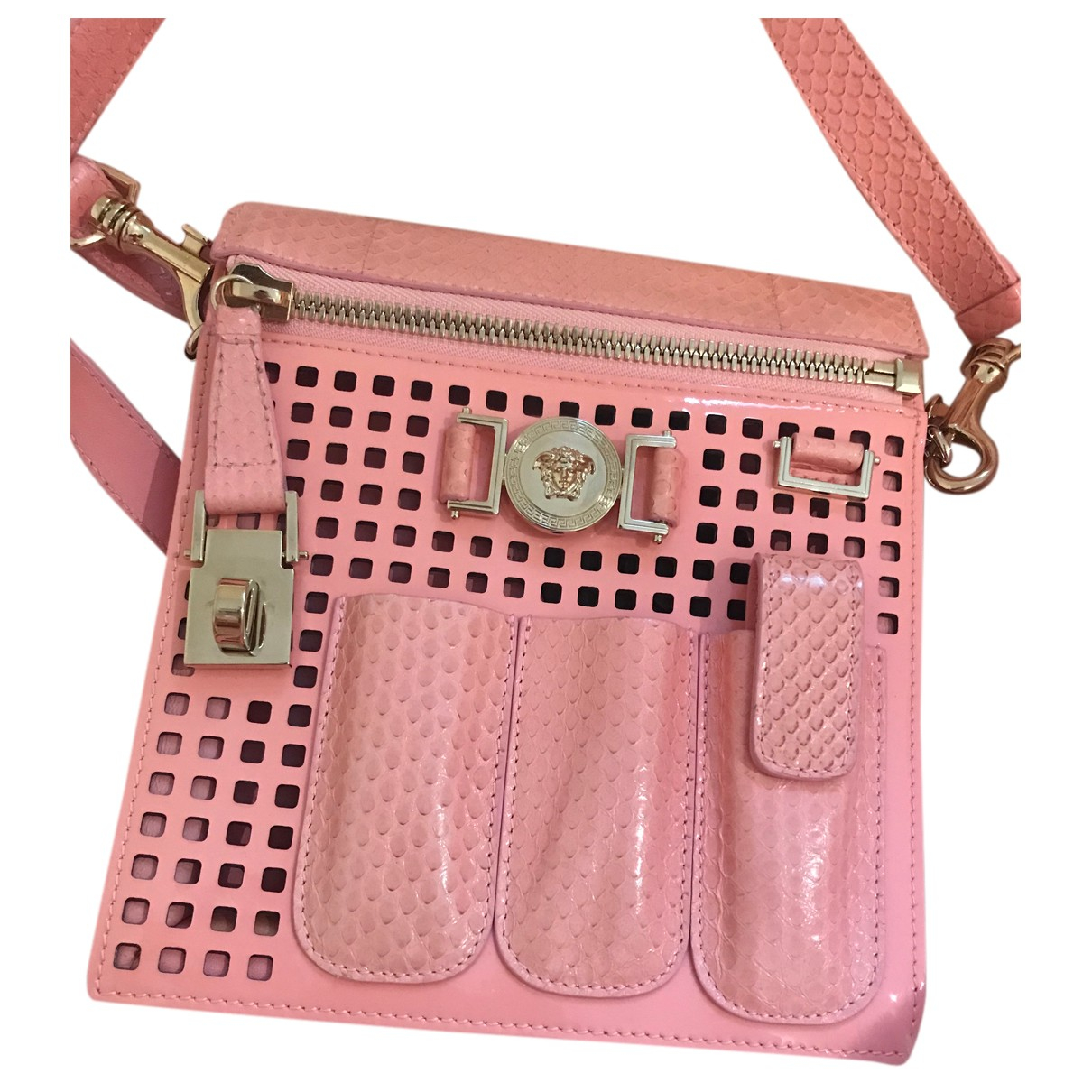 Versace Icon Pink Patent leather handbag for Women N