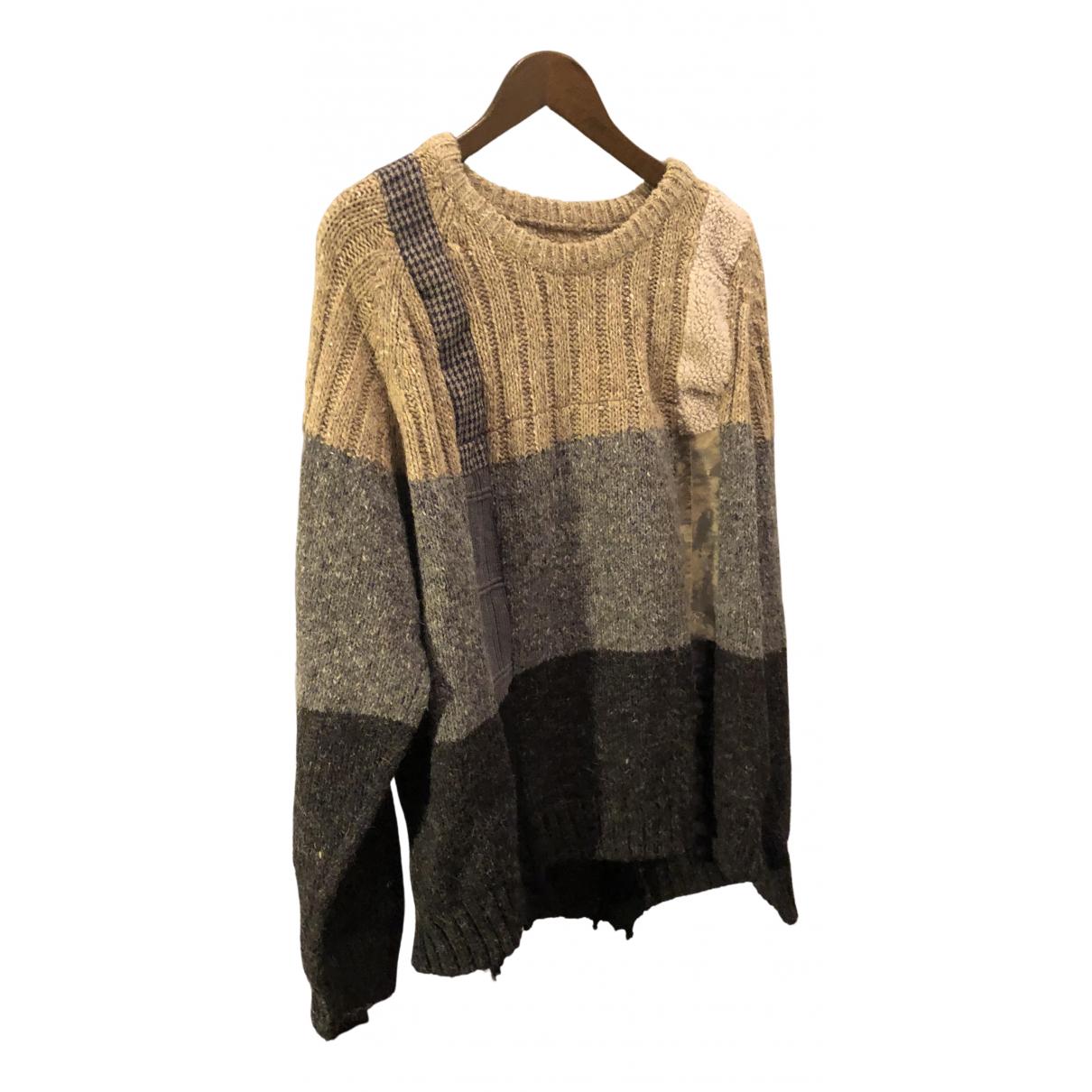 Non Signé / Unsigned Oversize Grey Wool Knitwear & Sweatshirts for Men L International