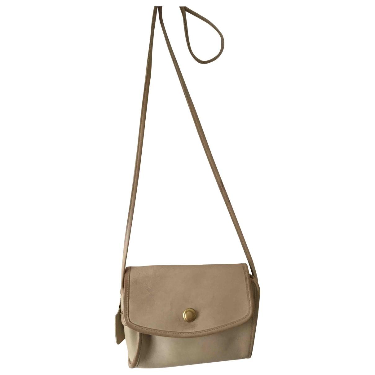 Coach Smooth Crossbody  Beige Leather handbag for Women \N