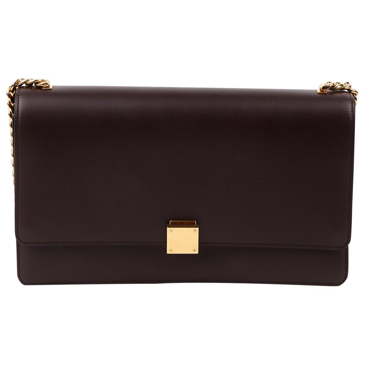 Celine Classic Handtasche in  Bordeauxrot Leder