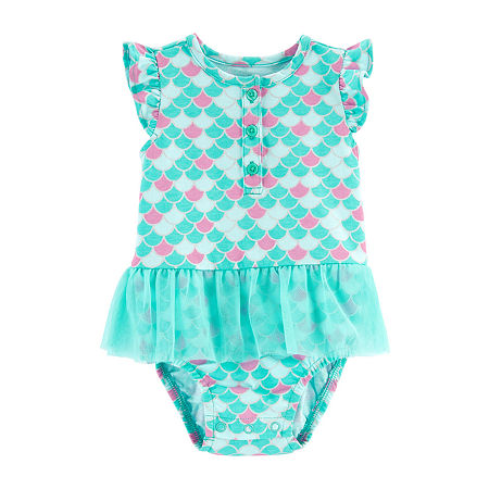 Carter's Baby Girls Bodysuit, Newborn , Blue