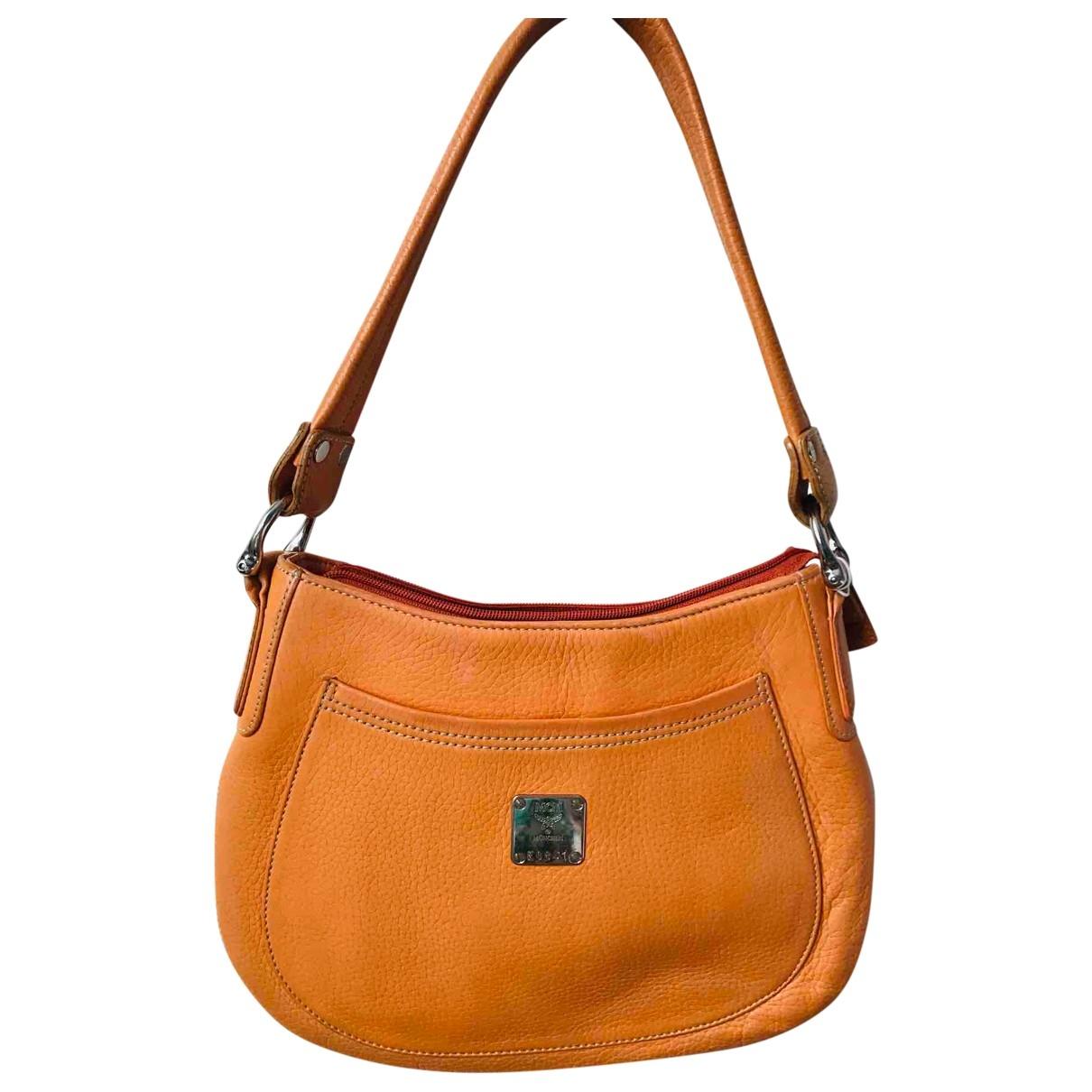 Mcm \N Handtasche in  Orange Leder