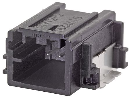 Molex , Mini50 Automotive Connector Plug 1 Row 2 Way, SMT Termination, Black (5)