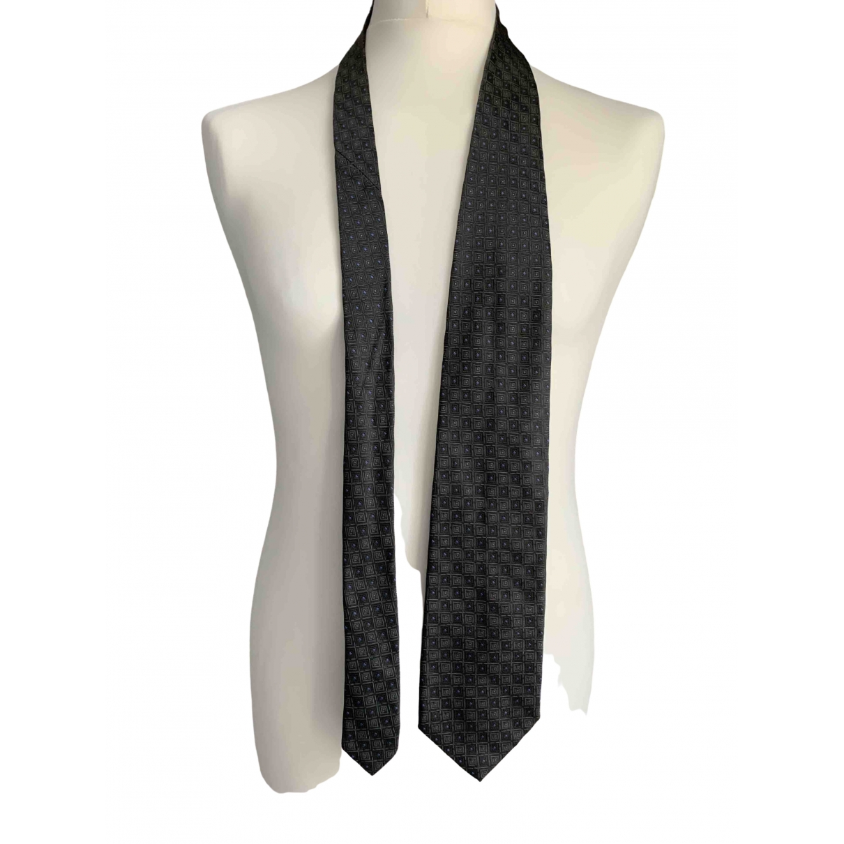 Ted Lapidus \N Anthracite Silk Ties for Men \N