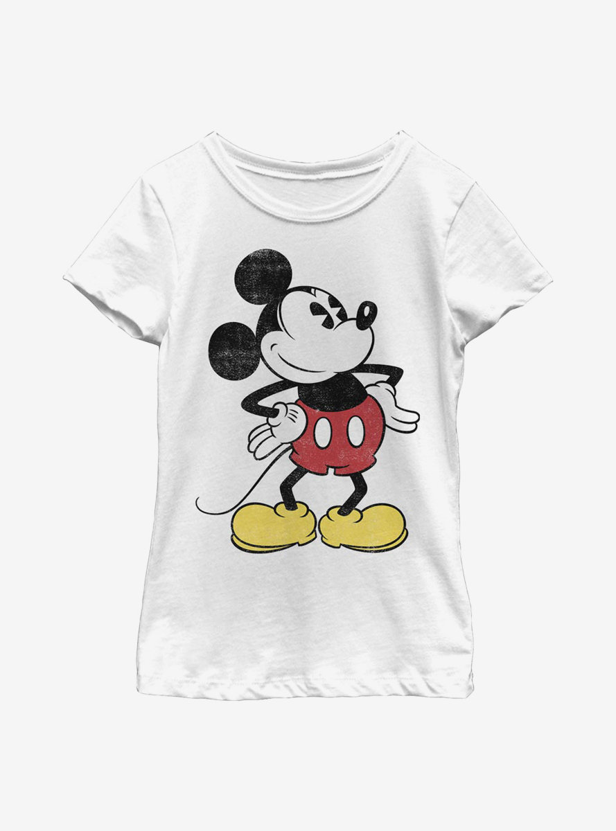 Disney Mickey Mouse Classic Vintage Mickey Youth Girls T-Shirt