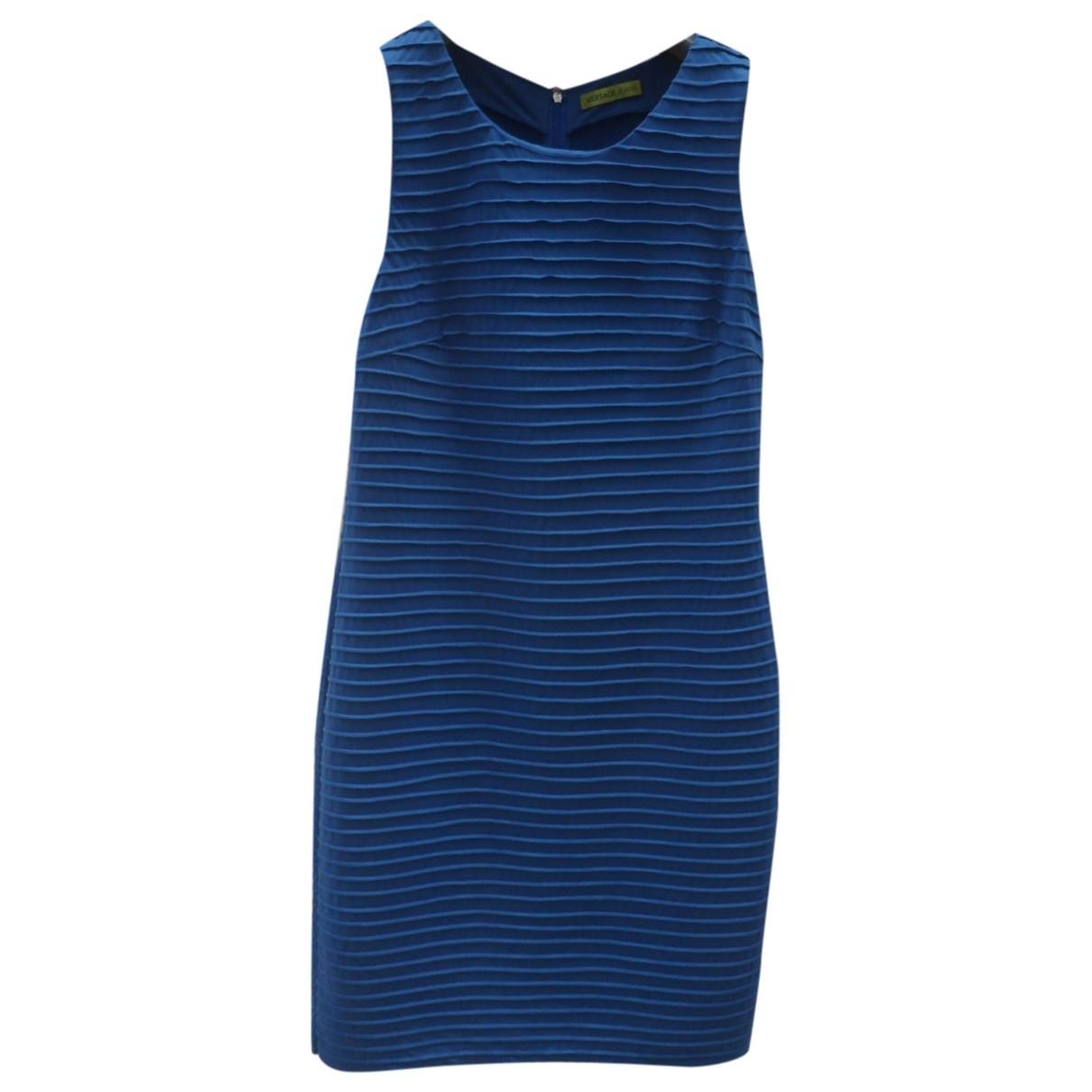 Versace Jeans \N Kleid in  Blau Baumwolle - Elasthan