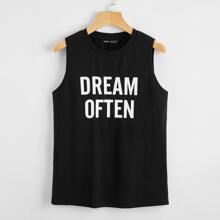Letter Graphic Tank Top