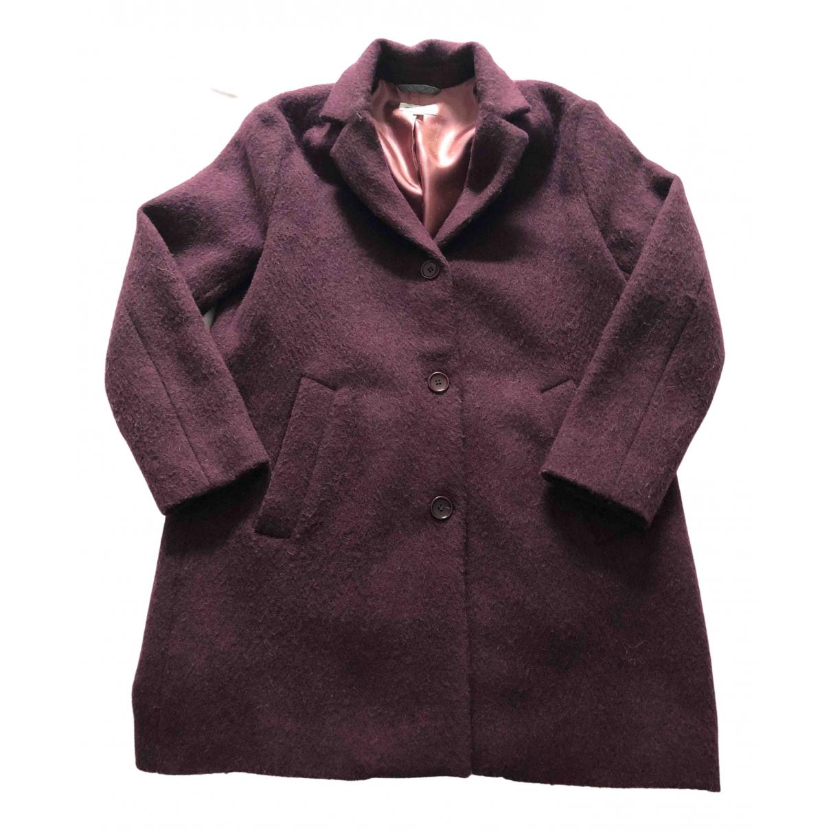 Hartford - Blousons.Manteaux   pour enfant en laine - bordeaux