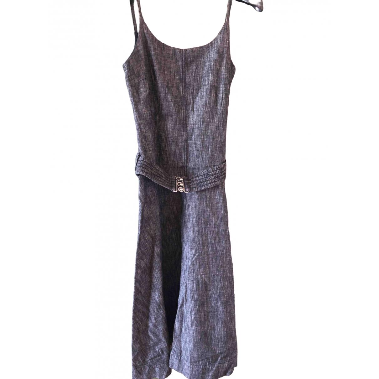 Dkny \N Kleid in  Grau Baumwolle