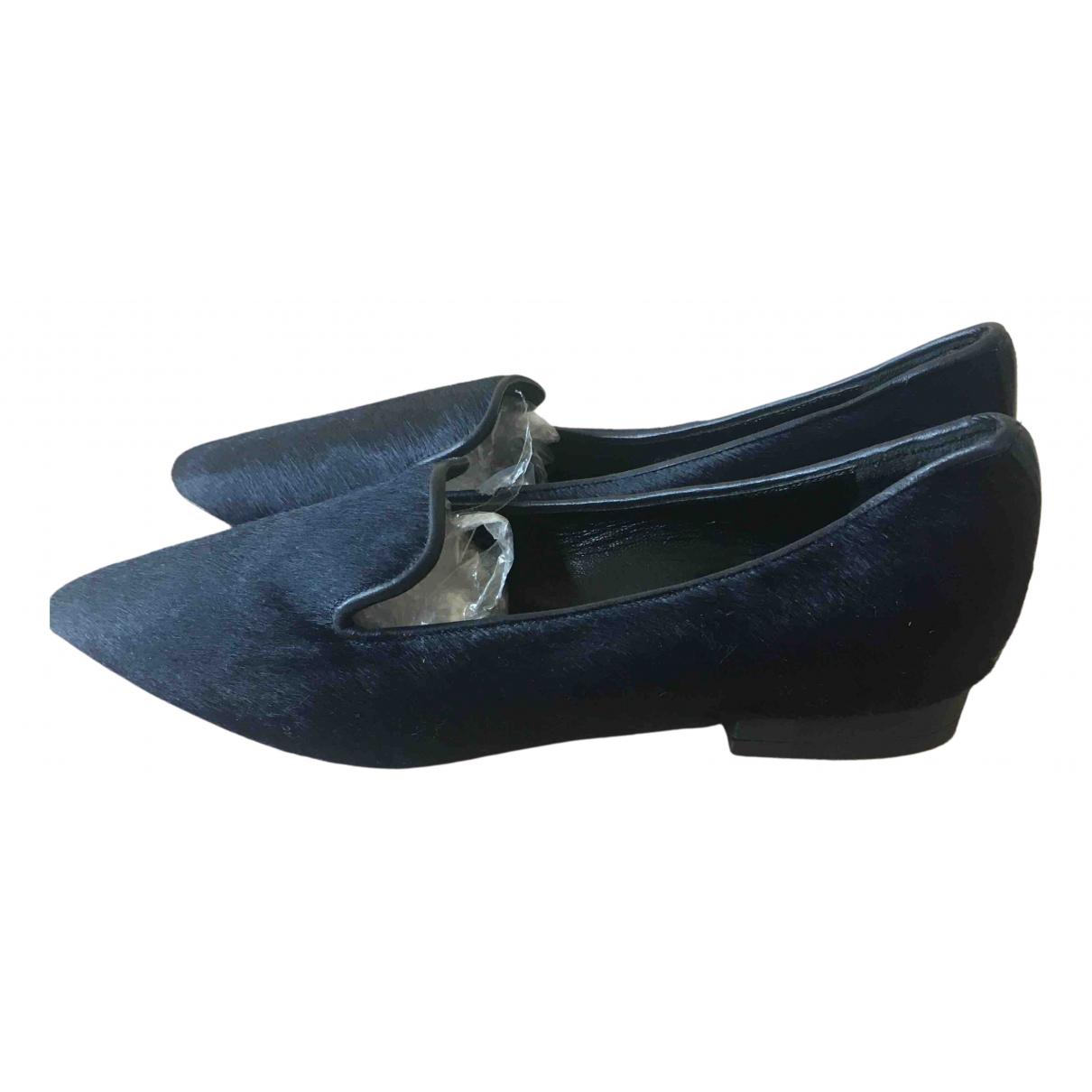 Comptoir Des Cotonniers \N Blue Faux fur Flats for Women 36 EU
