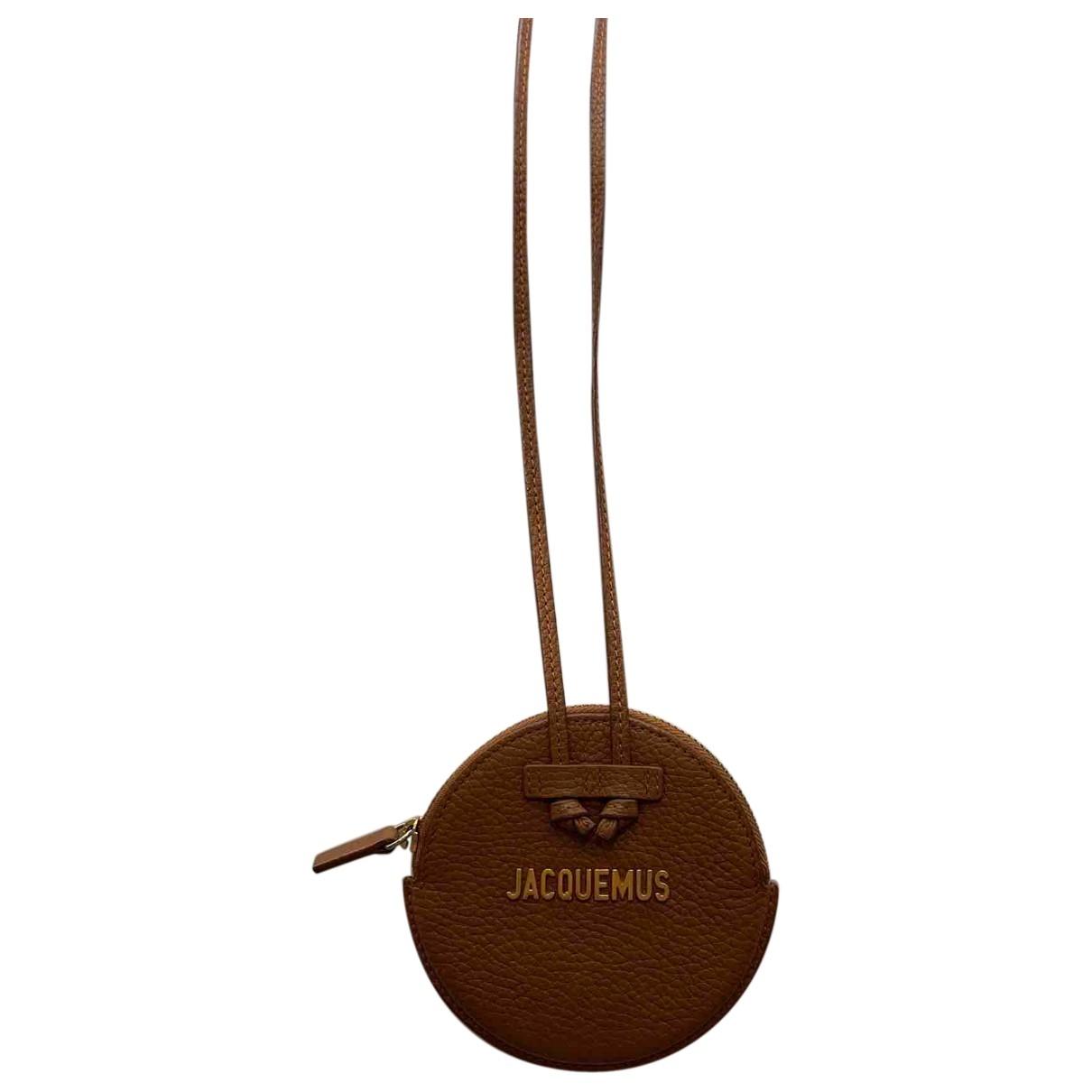 Jacquemus - Petite maroquinerie   pour homme en cuir - marron