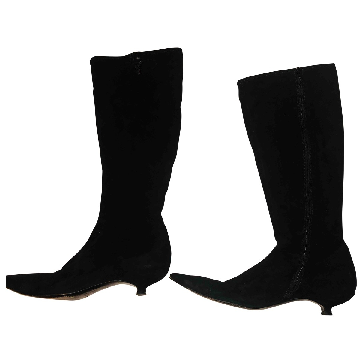 Miu Miu \N Black Suede Boots for Women 39 EU