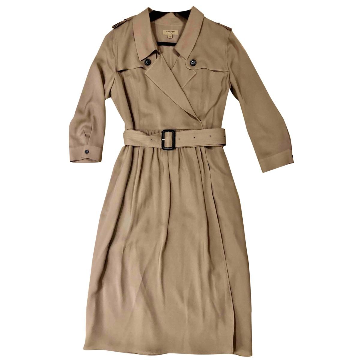 Burberry - Robe   pour femme en soie - beige