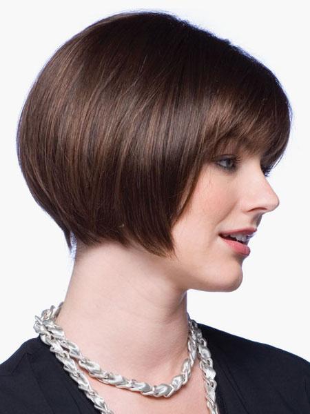 Milanoo Chic Brown Bobs Women's Short Wigs In Heat- Resistant Fibers