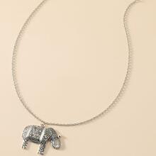 Halskette mit Elefant Anhaenger