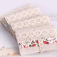 1 pieza bolsillo de carta con estampado de flor