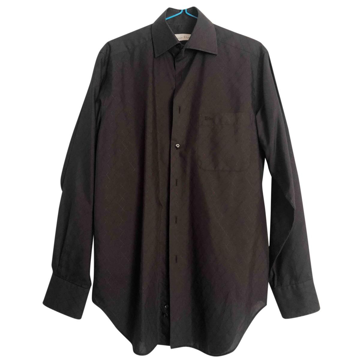 Dior - Chemises   pour homme en coton - noir