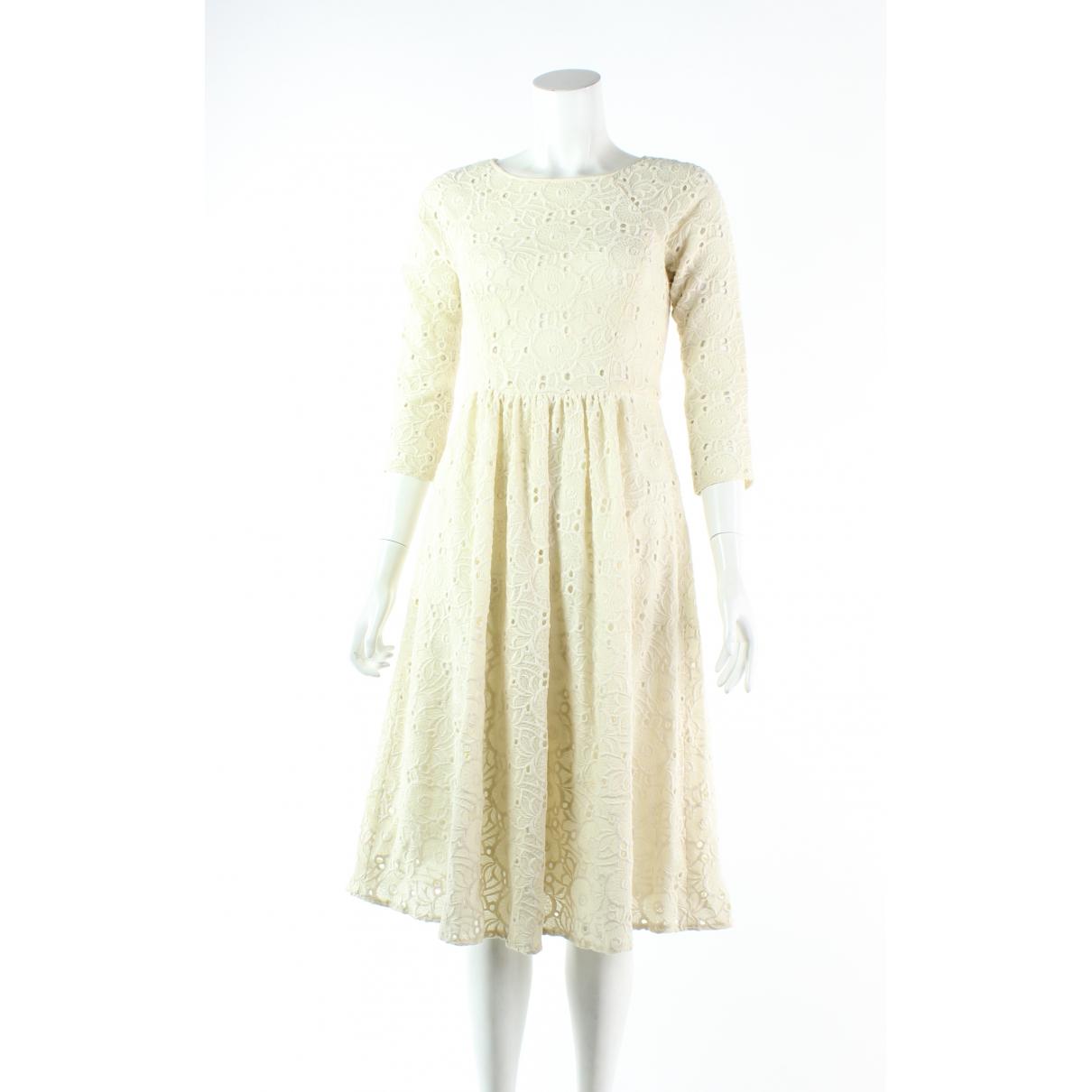 Tibi \N Kleid in  Weiss Wolle