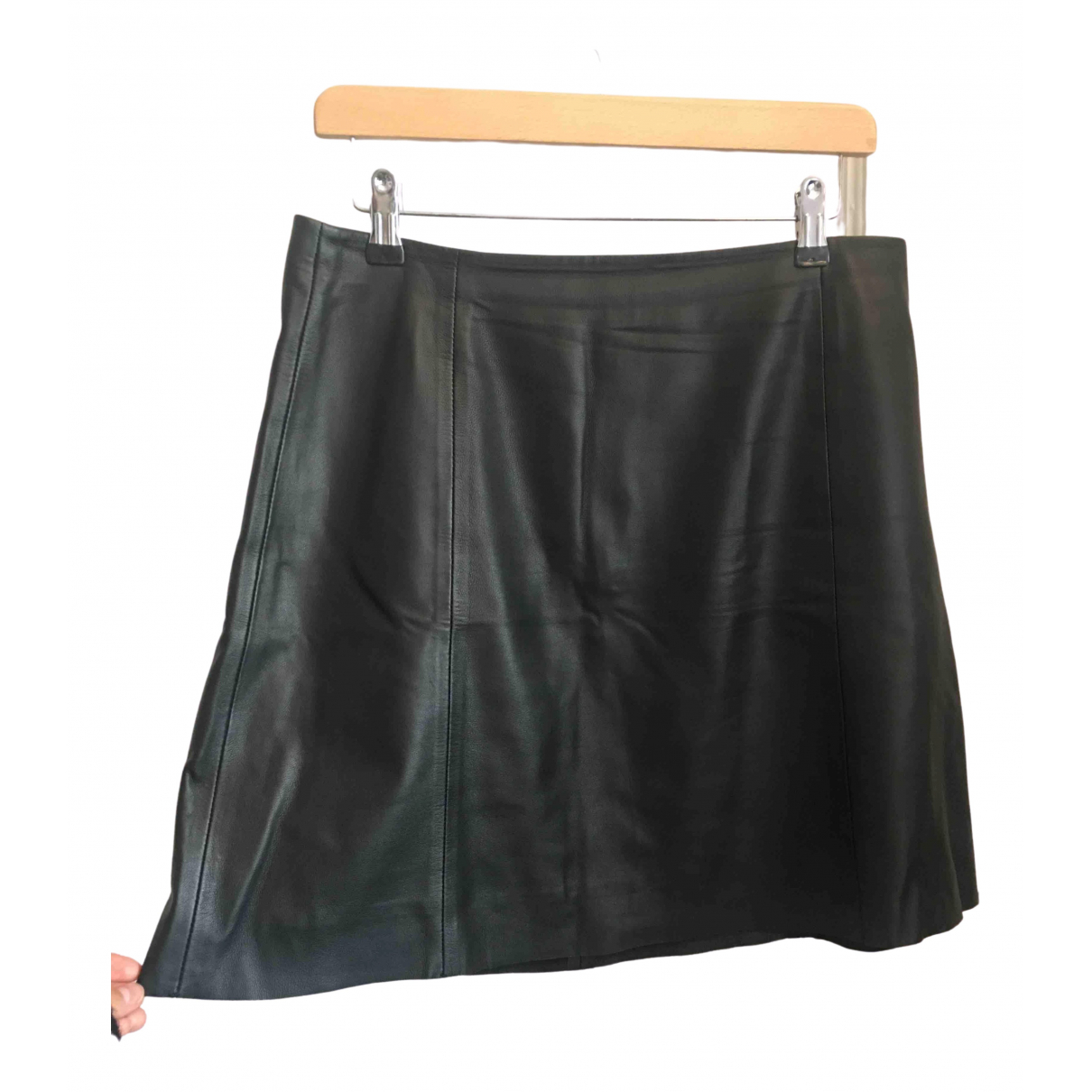 Jigsaw \N Black Leather skirt for Women 12 UK