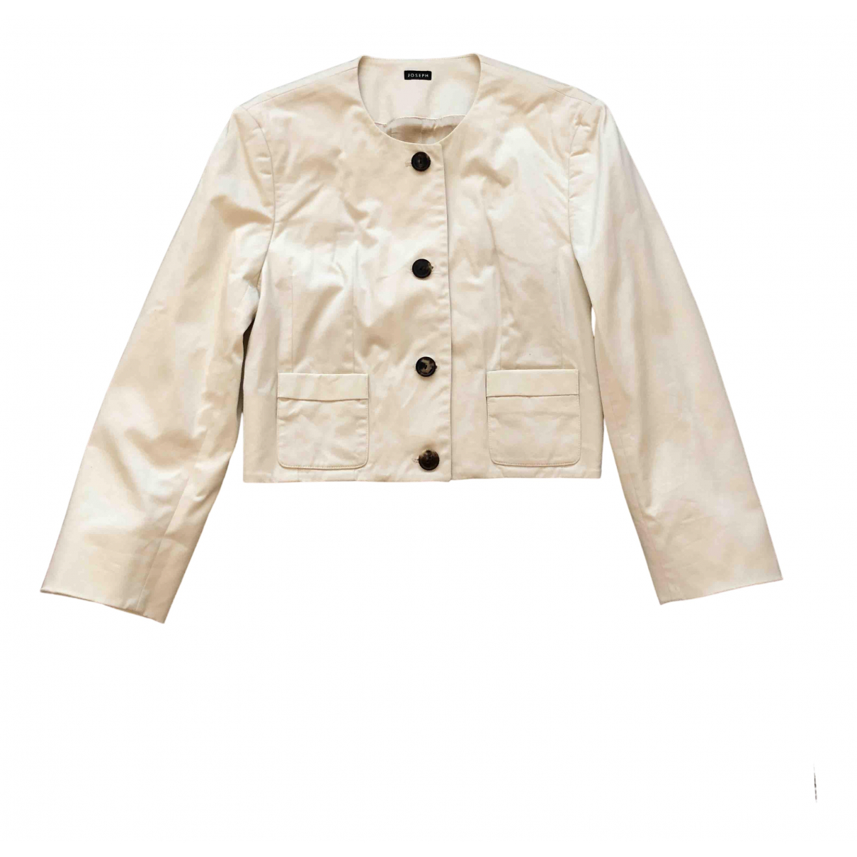 Joseph N Beige Cotton jacket for Women 38 FR