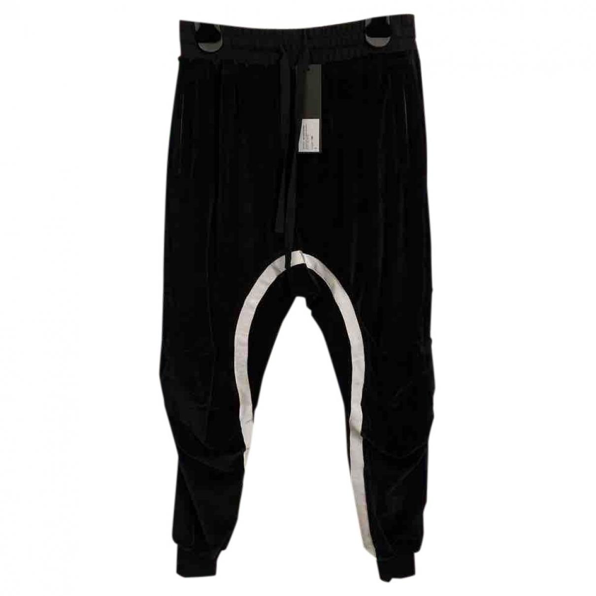 Haider Ackermann \N Black Velvet Trousers for Men M International