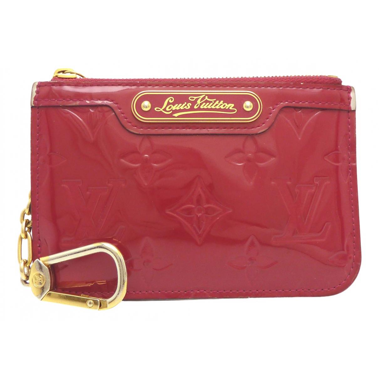 Louis Vuitton - Petite maroquinerie   pour femme en cuir verni - rose