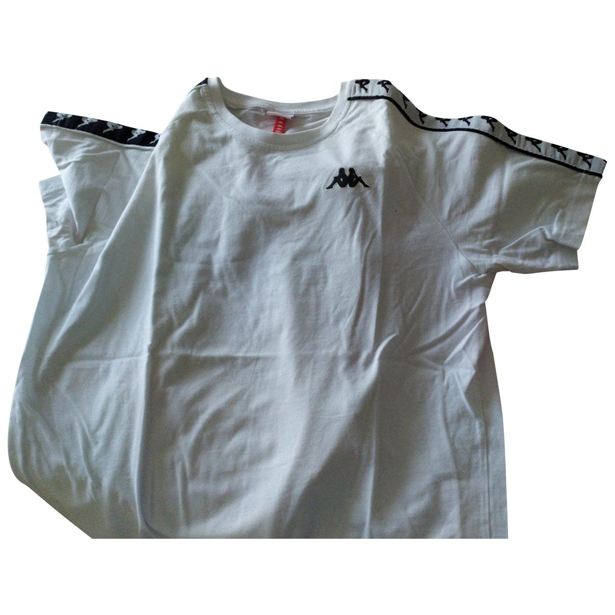 Kappa - Tee shirts   pour homme en coton - blanc