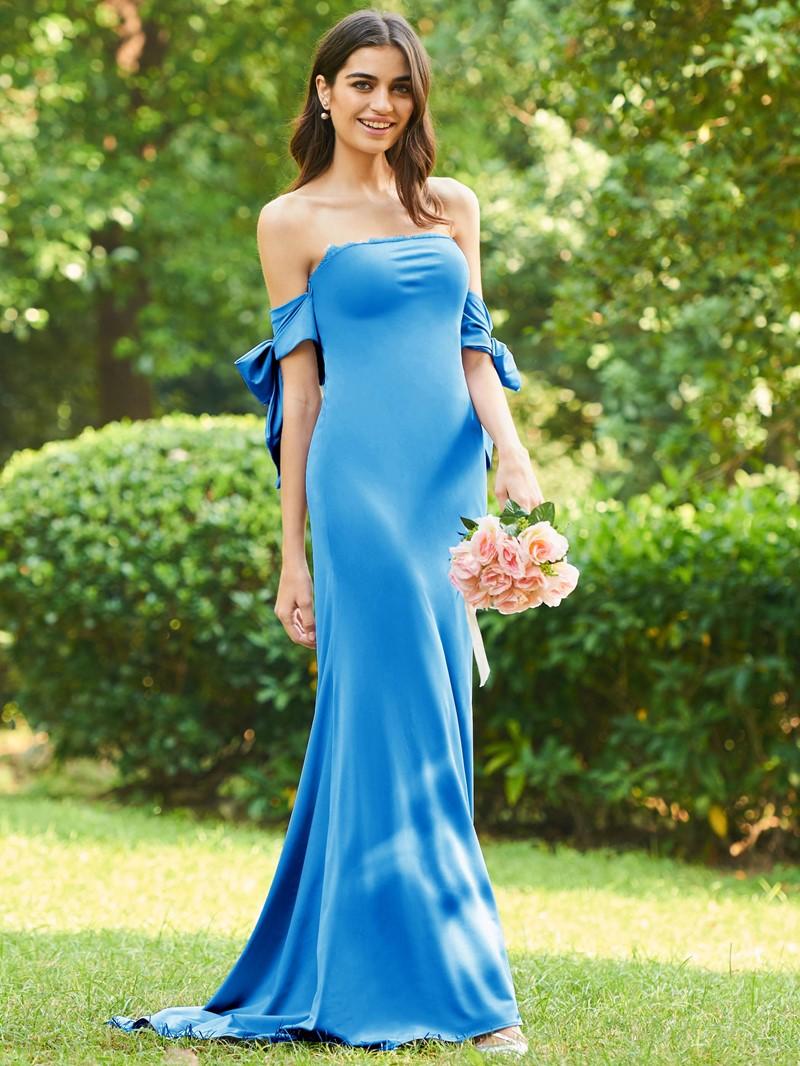 Ericdress Bowknot Button Lace Bridesmaid Dress