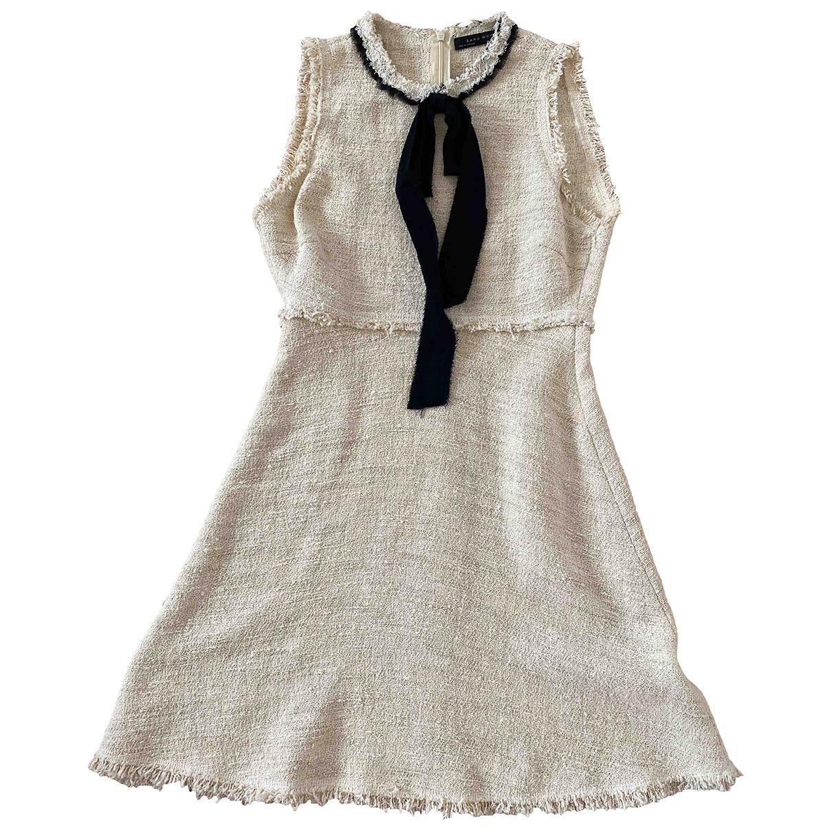 Zara \N Beige Tweed dress for Women 34 FR