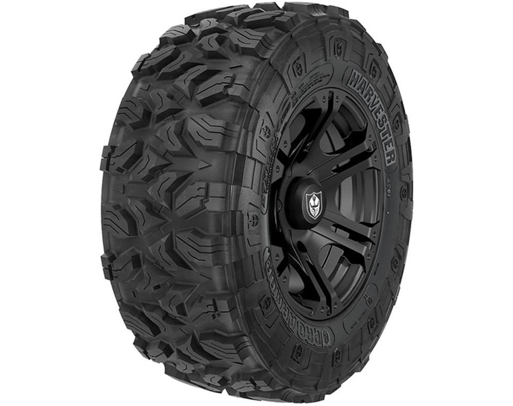 Polaris OEM 2882387 Wheel & Tire Set: Pro Armor Harvester & SIXR- Matte Black