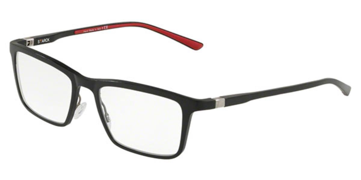 Starck SH2031 0004 Men's Glasses Black Size 54 - Free Lenses - HSA/FSA Insurance - Blue Light Block Available