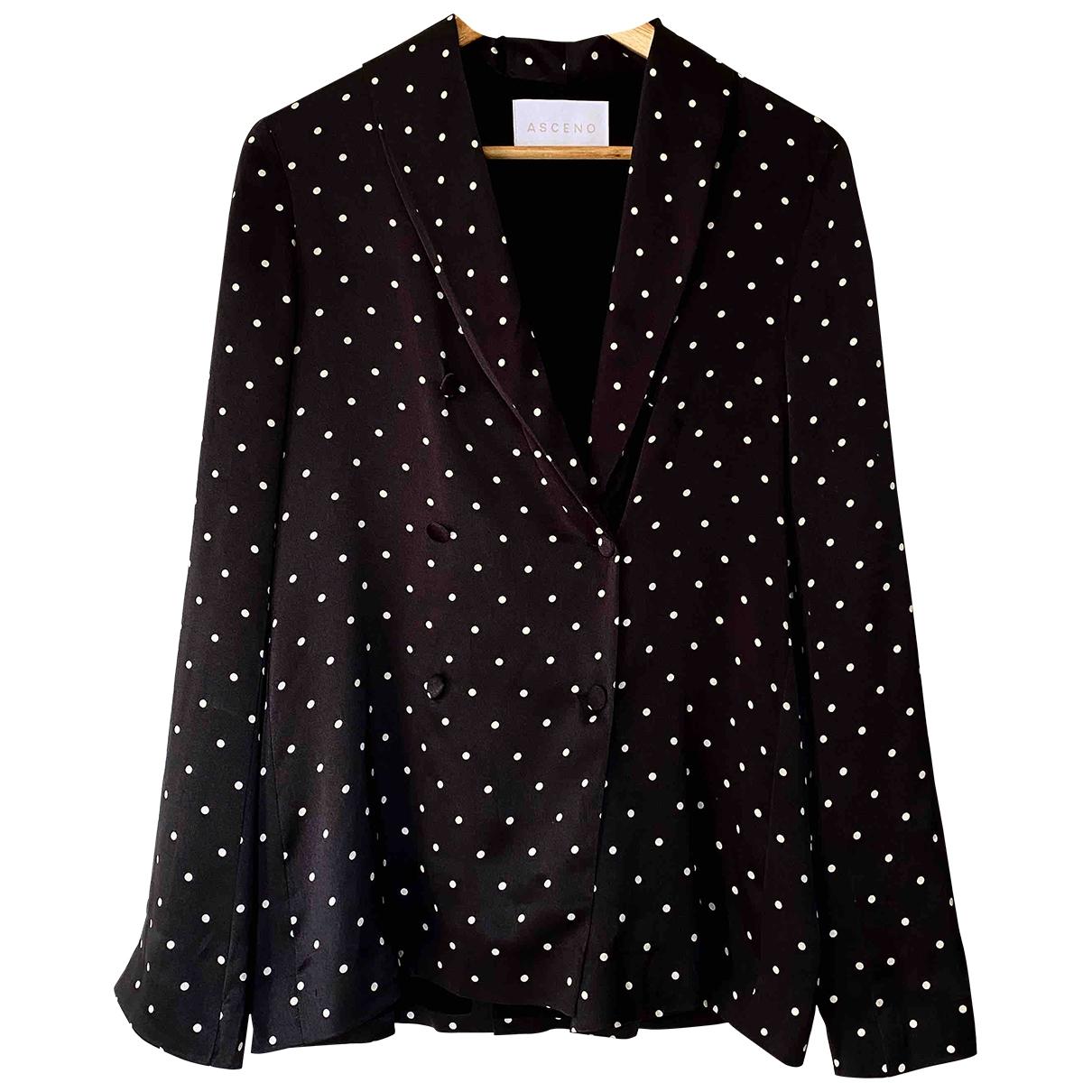 Asceno - Veste   pour femme en soie - noir