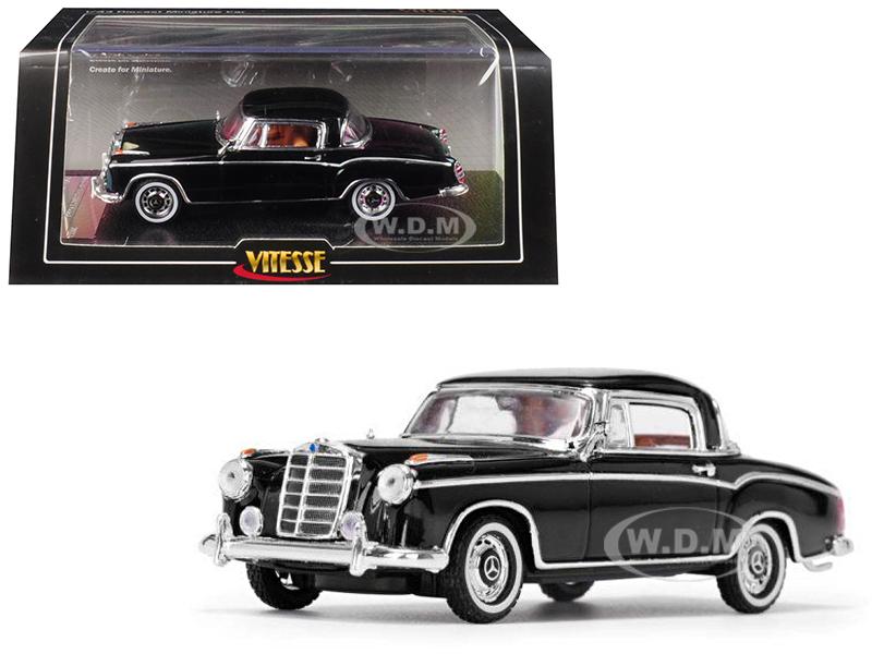 1958 Mercedes Benz 220 SE Coupe Black 1/43 Diecast Model Car by Vitesse