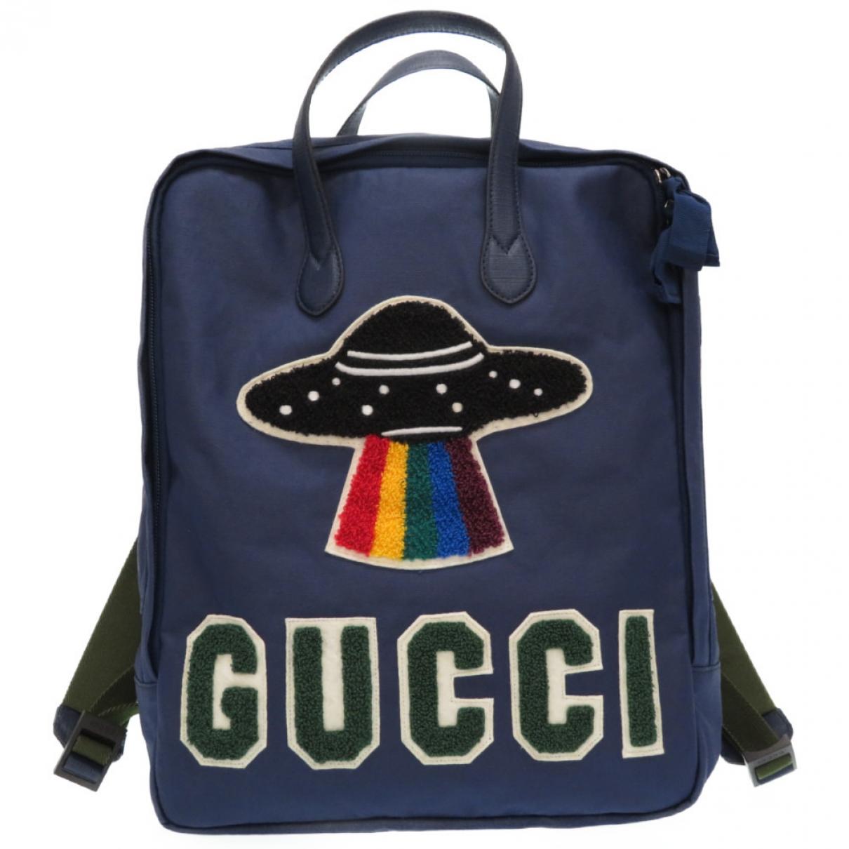 Gucci \N Rucksaecke in  Blau Leinen