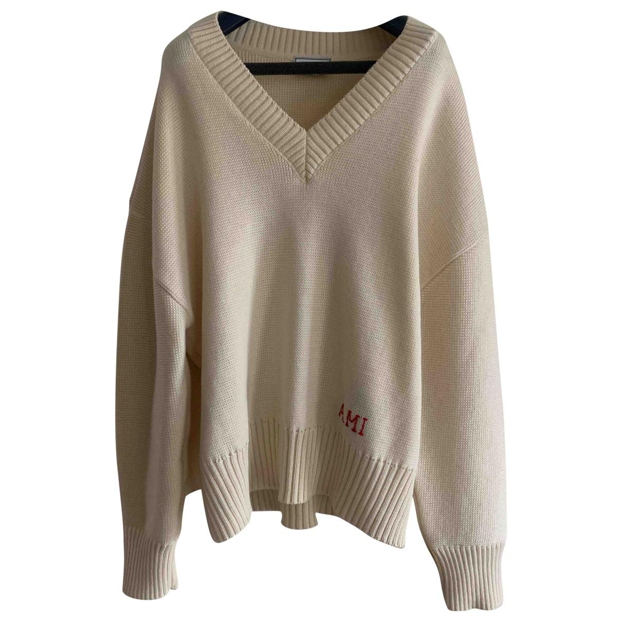 Ami \N Pullover.Westen.Sweatshirts  in  Beige Wolle