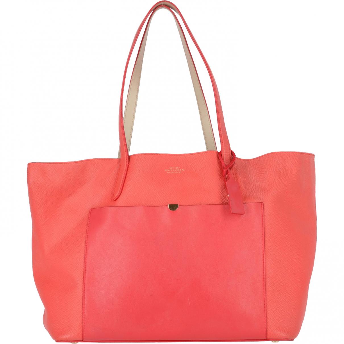 Smythson \N Red Leather handbag for Women \N