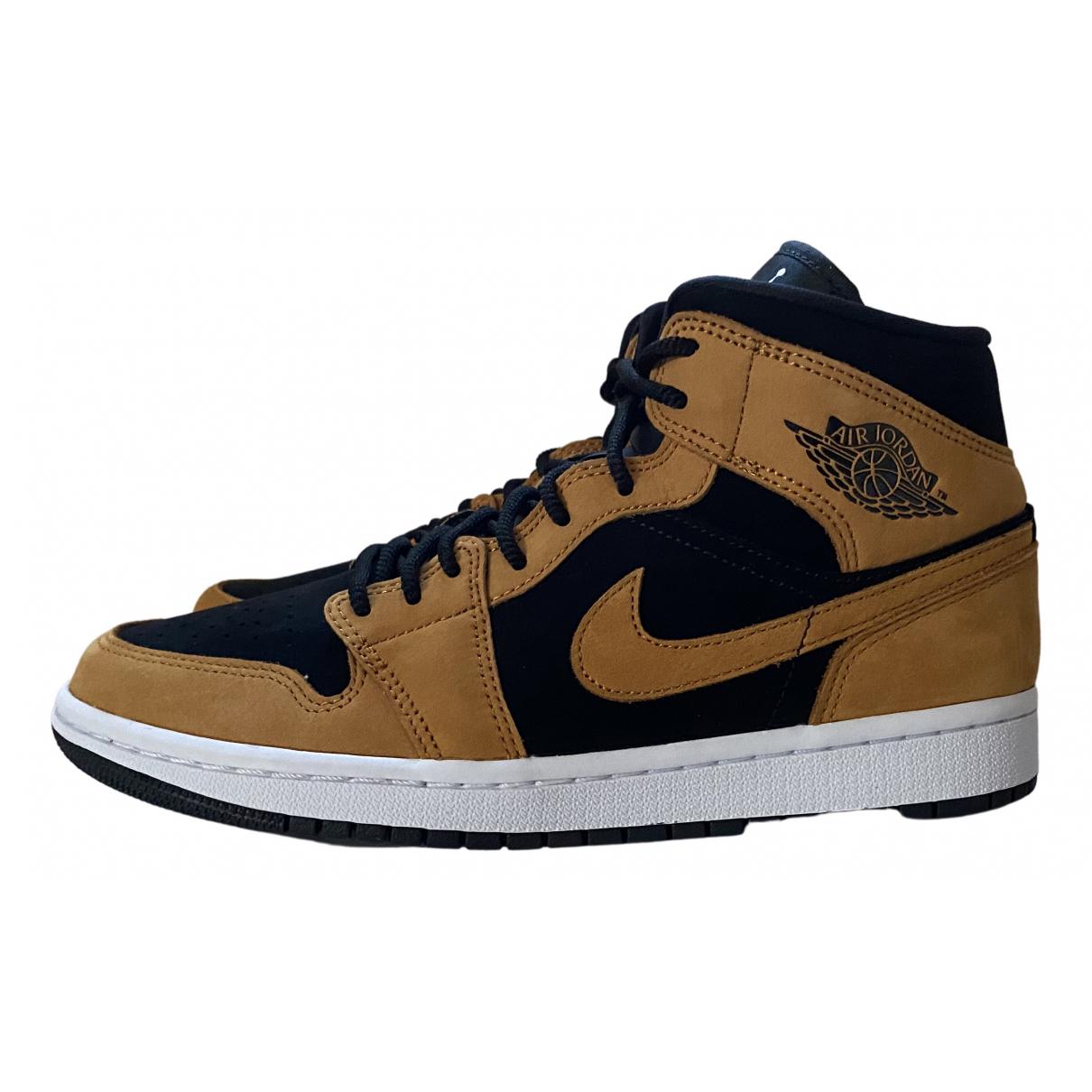 Jordan - Baskets Air Jordan 1  pour femme en suede - marron